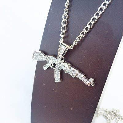 ライフル 拳銃 AK47 マシンガン シルバー 銀 SILVER ネックレス 1190