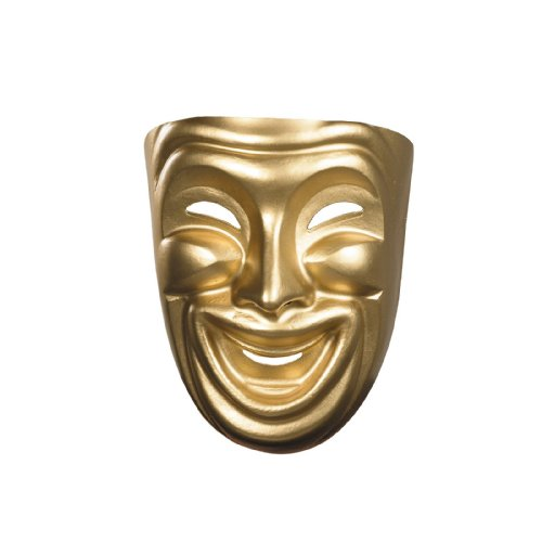 Disguise Costumes Gold Comedy Mask, Adult]()
