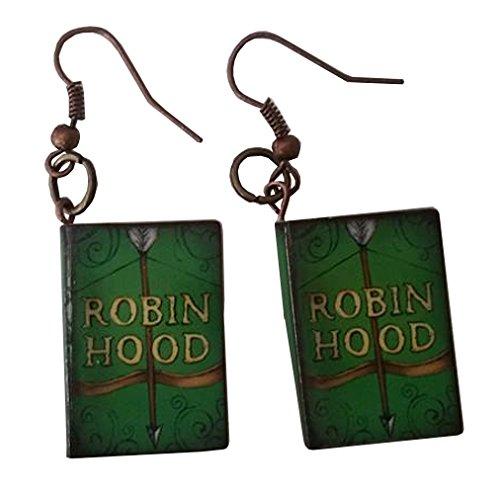 Robin Hood And Little John Costume (Robin Hood Story Book Dangle Earrings)
