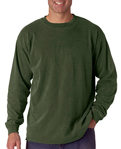 (Comfort Colors Ringspun Garment-Dyed Long-Sleeve T-Shirt, Large, HEMP)