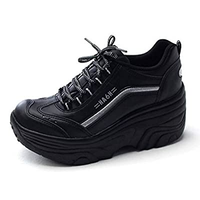 EpicStep Women's Cheerleaders Shoes High Heels Lace up Casual Platform Fashion Sneakers