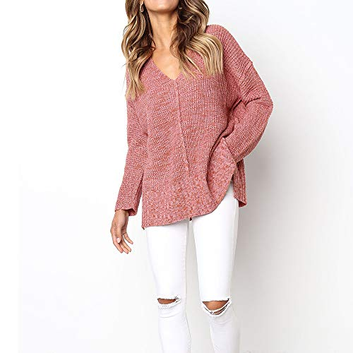 Blouse Chemisier Top Femme Longues Rouge Pulls Pull Manches Casual Tricot AIMEE7 en Chic nR8pxq0RSw