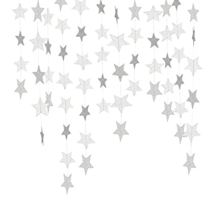 Lacheln Star Party Decorations Birthday Baby Shower Christmas Hanging Paper Garland