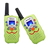 Retevis RT32 Walkie Talkie Kids 22CH Handheld Mini Kids Walkie Talkies for Kids Best Gifts Kids Toys Built in Flashlight(Green, 1 Pair)