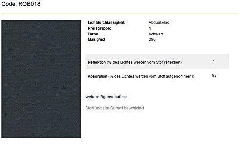 SUNLUX24 SUNLUX24 SUNLUX24 Verdunklungsrollo Basic auf Maß   Stoff  Schwarz(ROB018)   Systemfarbe  Weiß   Montage  wand_oder_deckenmontage   Breite 130,1 bis 140cm x Höhe 250,1 bis 260cm B01LNXGGLE Seitenzug- & Springrollos e89435