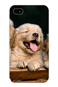 Awesome Case Cover/iphone 4/4s Defender Case Cover(Animal Golden Retriever Dog) Gift For Christmas