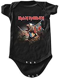 9f4372e44042 Iron Maiden The Trooper Baby Romper T-Shirt. ill Rock Merch