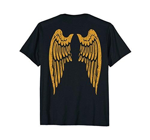 Angel Wings Gold Back T Shirt for Men Women Kids