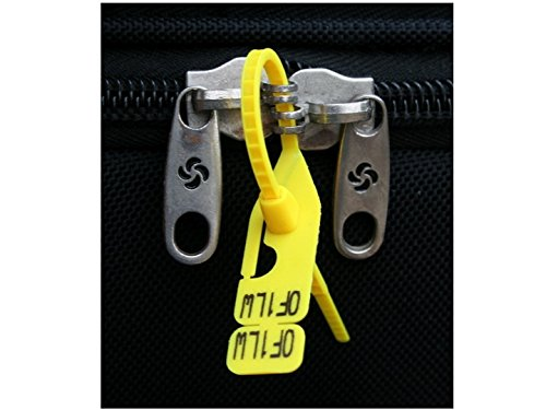 Peace Out Tie - Pick Proof Seals - TSA Accepted Luggage Locks (3 Packs = 60 Total Seals)