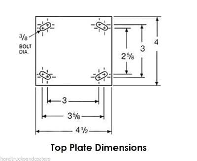 "(1) Colson Swivel Caster 6""x2"" Wheel (4""x4-1/2"" Plate) Total Lock Brake"