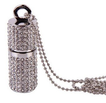 Crystal Lipstick Case Jewelry 8gb/16gb Flash Drive