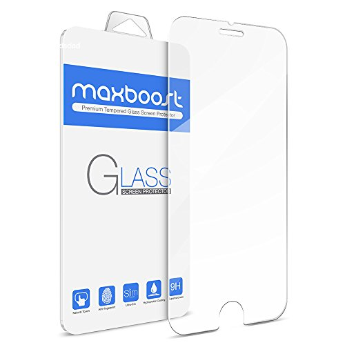 iPhone 6S Screen Protector, Maxboost Tempered Glass Screen Protector For iPhone 6...