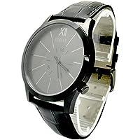 POKULE Stainless Steel Fashion Classic Men's Black Quatrz Watches 50M Waterproof Japan Movement Wrist Watch