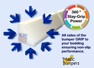 Magic Bumpers Child Bed Safety Guard Rail 48 Inch