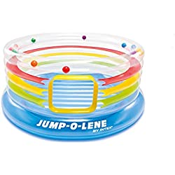 "Intex Jump-O-Lene Transparent Ring Inflatable Bouncer, 71"" X 34"" Ages 3-6"