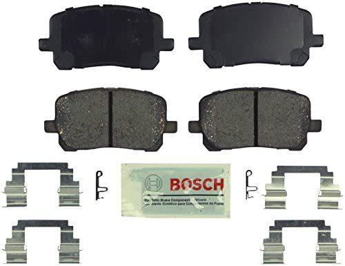 Bosch BE923H Blue Disc Brake Pad Set with Hardware For: Pontiac Vibe; Toyota Corolla, Matrix, Front