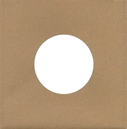 100 Pack of Kraft Brown Cardboard Chipboard Sleeves Jackets for 7 45 RPM Vinyl Record Singles 45s 45rpm