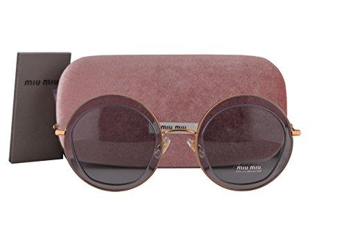 Miu Miu MU50QS Sunglasses Transparent Gray w/Gray Lens ROY3C2 SMU50Q (Miu Miu Sunglasses Gray)
