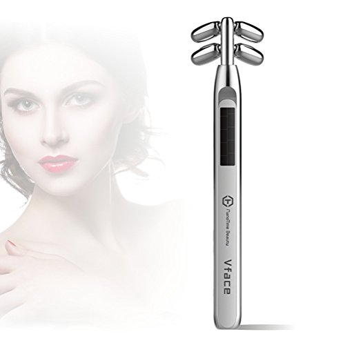 Anti Aging Face Massager V-shaped Facial Tightening and Lifting Device Microcurrent Roller - Shaped Face V