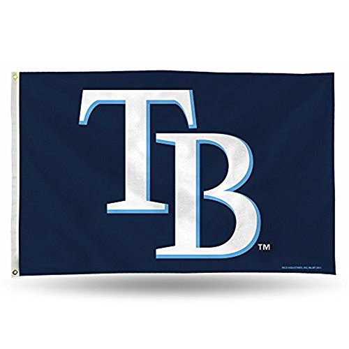 MLB Tampa Bay Devil Rays 3-Foot by 5-Foot Banner Flag (Tampa Rays Clothes Devil Bay)