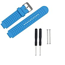 ECSEM Replacement Silicone Bands Watch Straps for Garmin Forerunner 220/230/235/Forerunner 620/630/735XT & Garmin Approach S5/S6 Samrtwatch, Blue