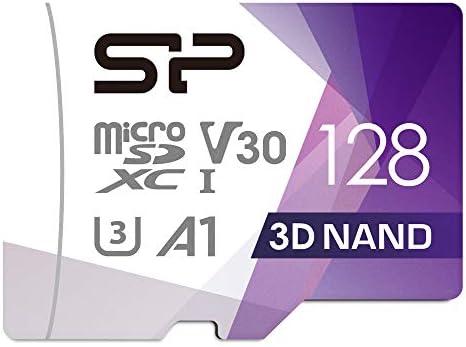 Silicon Power 128GB Micro SDXC UHS-I U3 Gaming Matrix High Speed Micro SD CardAdapter