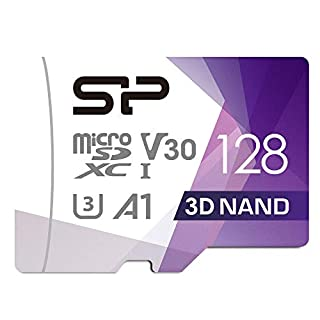 Silicon Power U3 128GB Micro SD Card Nintendo-Switch Compatible, SDXC microsdxc High Speed Class 10 MicroSD Memory Card with Adapter