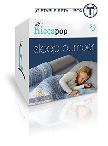 1-Pack-hiccapop-Toddler-Bed-Rail-Bumper-Foam-Safety-Guard-for-Bed-Side-Rail-with-Waterproof-Cover-Pillow-Pad-for-Toddlers-Kids