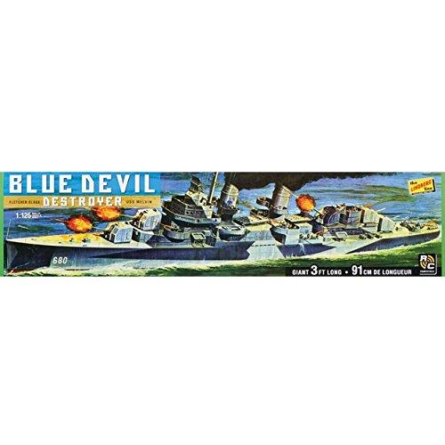 Lindberg Models LN212 1:125 Blue Devil Destroyer USS Melvin DD-680 Model (Fletcher Class Destroyer Model)