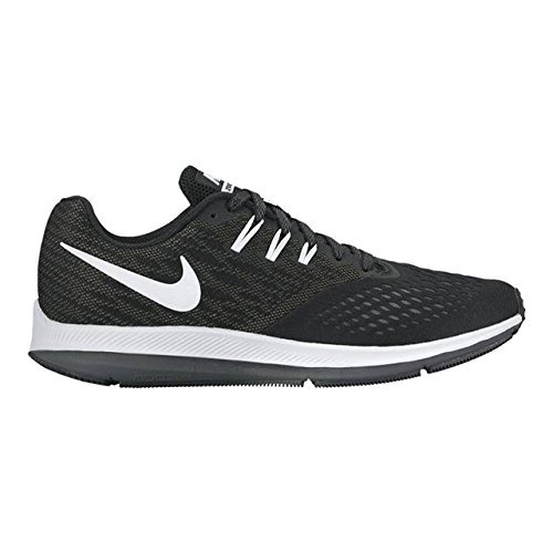68d34d943c0 Galleon - Nike Zoom Winflo 4 Black White Dark Grey Men s Running Shoes (14  D(M) US)