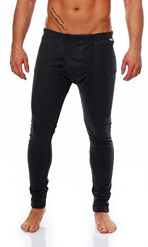 2 x Super warme Thermo - Herren-Unterhose, lang, anthrazit, Größe: 5 - 13 (7)
