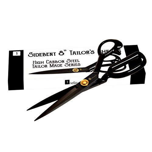 - Scissors 8 inch - Professional Heavy Duty Industrial Strength High Carbon Steel Tailor Scissor Shears For Fabric Leather Sewing Dressmaking Tailoring Home Office Artists Students Tailors Dressmakers