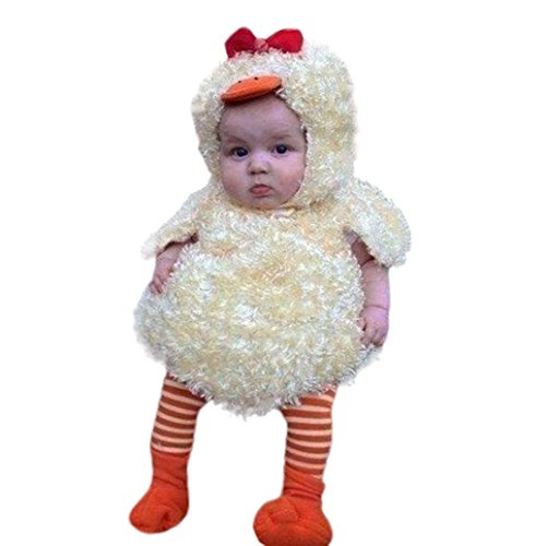 Best Newborn Halloween Costumes - Baby Costume, Misaky Newborn Baby Boy Girl Chick Hoodie Warm Waistcoat Tops Outfit for 6-24 Months (3-6M/Tag 60, Yellow)