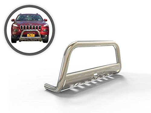 Vanguard VGUBG-0990SS Stainless Steel Classic Bull Bar Compatible with 14-19 Jeep Cherokee