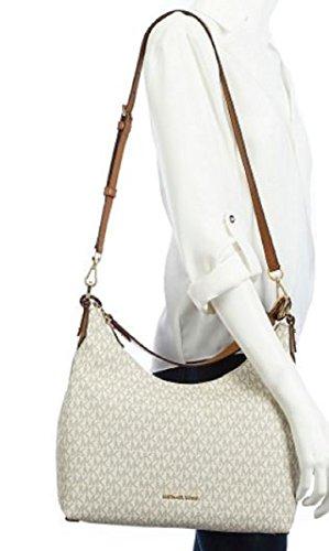 fe19a42e441c MICHAEL MICHAEL KORS Jet Set leather trapeze tote Michael Kors Isabella  Medium Convertible Shoulder Bag (Vanilla) Amazon.in Shoes Handbags ...