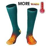 Men Women Electric Heated Socks Thermal Insulated Sock Battery Powered Heat Sox,Novelty Winter Sports Warm Volt Heat Socks Kit Climbing Hiking Plug in Foot Heater Warmer(Battery not Included)