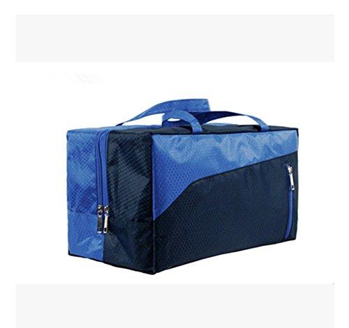 Wewod Riesige Kapazität Unisex Schwimmen liefert Aufbewahrungstasche /Schwimmtasche/Sporttasche-Nass und Trockentrennzon/Wasserdicht (Marine)