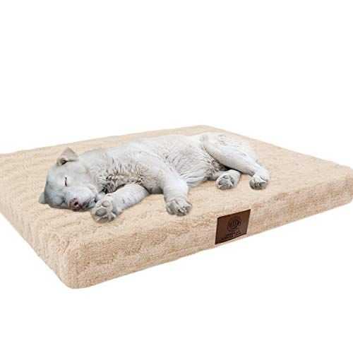 American Kennel Club Orthopedic Crate Mat, 23 by 36-Inch, Tan