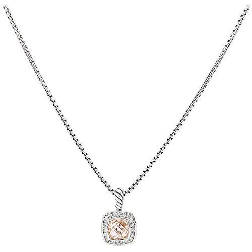 David Yurman Petite Albion Morganite & Diamonds Necklace N07212DSSAMODI17