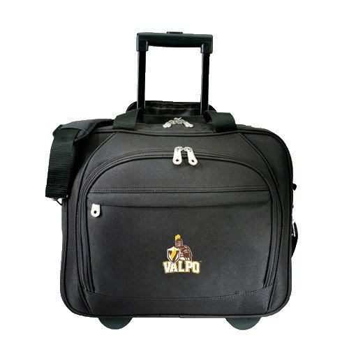 Valparaiso Embassy Plus Rolling Black Compu Brief 'Official Logo' by CollegeFanGear