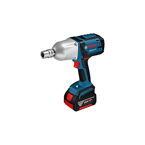 Bosch GDS 18 V-LI HT Professional Cordless Impact Wrench Easy Grip Most Powerful 18 V Included Body + 18V Battery 2 EA + Charger + Hard Case Set