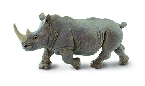 Safari Ltd Wildlife Wonders - White Rhino - Realistic Hand Painted Toy Figurine Model - Quality Construction from Safe and BPA Free Materials - For Ages 3 and Up - Large