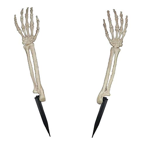 Crazy Bonez Skeleton Arms Lawn Stakes]()