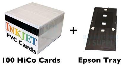 Brainstorm ID PVC Tarjeta de Identificación Starter Kit - 100 HiCo ...
