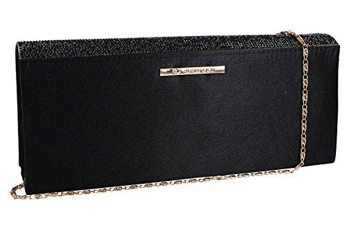 Geldbeutel frau ROMEO GIGLI pochette schwarz Zeremonie mit strass VN1351