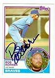 Autograph Warehouse 72446 Bob Horner Autographed Baseball Card Atlanta Braves 1983 Topps No . 50 67