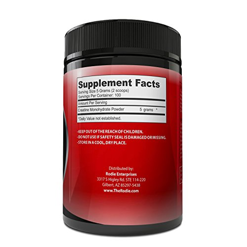 Pure Creatine Monohydrate Powder Performance Supplement Supports Athletes in Muscle Growth, Strength & Power When Combined With High Intensity Exercises - Increase Stamina & Decrease Recovery Time