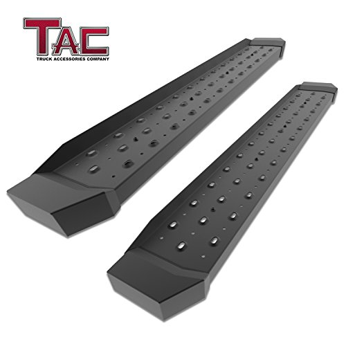 "TAC 6.5"" Running Boards for 2015-2018 Ford F150 Regular Cab/2017-2018 Ford F250/F350/F450/F550 Super Duty Regular Cab Truck Pickup Utility Black Rattler Steel Running Boards Side Steps Nerf Bars 2PCS"