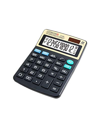 Standard Function Electronics Desktop Calculators,Big Button 12 Digit Large LCD Display,Dual Power Office Calculator