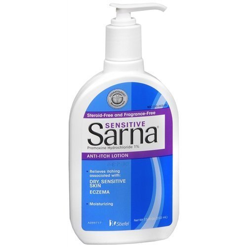 Sarna Sensitive, Anti-Itch Lotion, Fragrance-Free 7.5 fl oz (Anti Itch Lotion Fragrance)